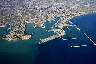 The Port of Valencia, one of the busiest in the Golden Banana Port of Valencia.jpg