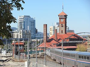 Empire Builder - The Portland section of the Empire Builder at Union Station in Portland, Oregon.