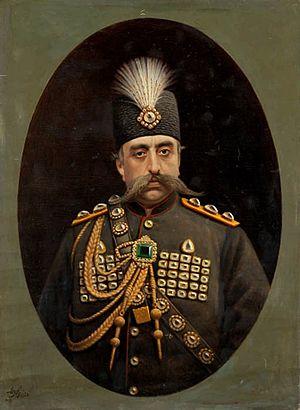 Commander-in-Chief of the Iranian Armed Forces - Image: Portrait of Muzaffar al Din Shah Qajar by Kamal ol molk, 1902