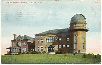Dudley Observatory - The second Dudley Observatory building, shown on a postcard (c. 1911)