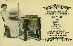 "National Sewing Machine Company - National Sewing Machine Company's ""Happy Day"" washing machine, circa 1910"