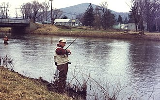 Potato Creek (Pennsylvania) - Trout fishing on Potato Creek, Smethport, PA