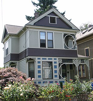 English: The historic John E.G. Povey House (b...