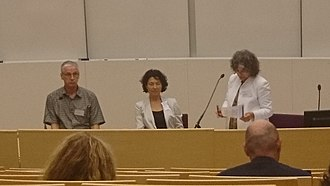 Vivien A. Schmidt - Vivien Schmidt (right) in the Power and Global Governance Session during the Power and Governance conference at the University of Tampere, Finland, August 2018