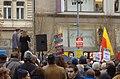 Praha, Václavské náměstí, Demonstrace 2011, Slavoj Žižek hovoří k demonstrantům.jpg