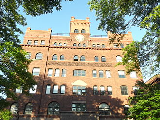 Nasser Sharify - The main building at the Pratt Institute campus in Brooklyn, New York, USA.