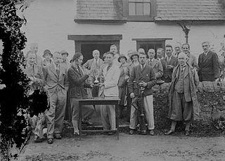 Presentation of a trophy to a golfer at Builth Wells Golf Club