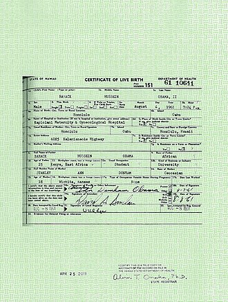 Barack Obama citizenship conspiracy theories - In response to the conspiracy theories, the White House released copies of the President's long-form birth certificate on April 27, 2011, and posted an image of it to the White House website, reaffirming that he was born on August 4, 1961, in Honolulu, Hawaii.
