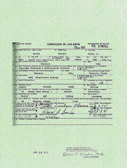 Barack Obama citizenship conspiracy theories - Wikiwand