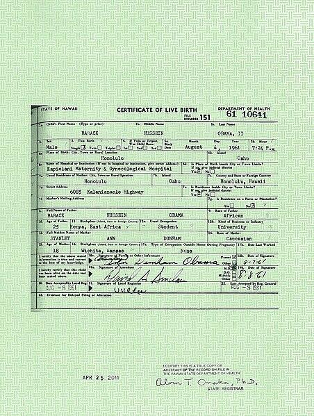 ファイル president barack obama s long form birth certificate jpg