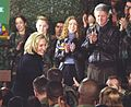 President Clinton, Hillary Rodham Clinton and Chelsea Clinton greet troops at Tuzla Air Force Base in Bosnia - Flickr - The Central Intelligence Agency (cropped).jpg