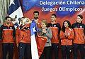 Presidenta entregó bandera de Chile a la delegación que representará al país en las Olimpiadas (27211647303).jpg