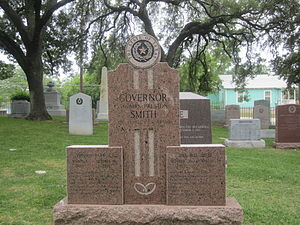 Preston Smith (governor) - Graves of Governor and Mrs. Preston E. Smith at Texas State Cemetery in Austin, Texas