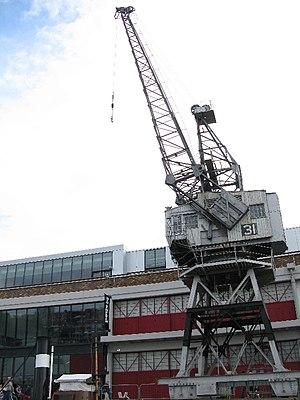 M Shed - Dock crane outside M Shed