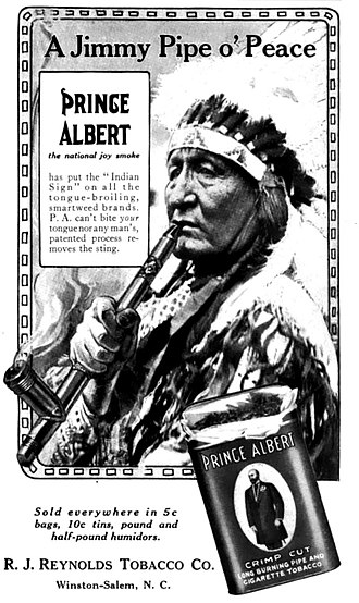 Prince Albert (tobacco) - 1913 advertisement for Prince Albert tobacco.