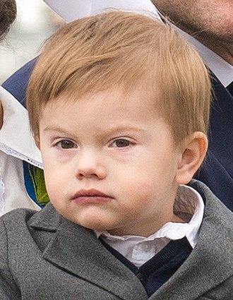 Prince Oscar, Duke of Skåne - Image: Prince Oscar, Duke of Skåne in 2018 (cropped)