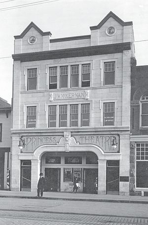 Princess Theatre (Edmonton) - Princess Theatre in 1915, shortly after opening