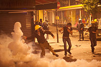 Protesters action during Gezi park night protests. Events of June 15, 2013-7.jpg