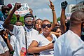 Protesters at the endSARS protest in Lagos, Nigeria 09.jpg