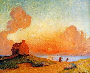 Sunset by the Sea, Brittany