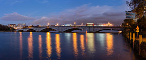 Putney Bridge - A view from the Putney Boat Sheds.