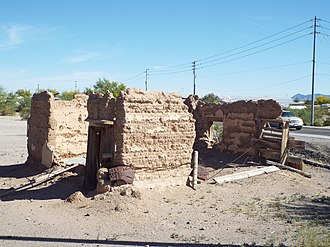 Quartzsite, Arizona - Image: Quartzsite Fort Tyson Ruins 1856 1
