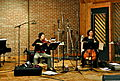 Queen of the Mist Cast Album recording violin cello.jpg