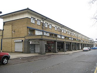 Adeyfield - Part of Queens Square neighbourhood shopping centre at Adeyfield