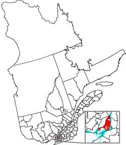 魁北克地圖