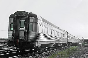 Silver Comet (train) - The Silver Comet arriving at Alexandria VA., 1969