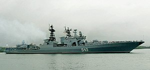 Marshal Shaposhnikov (BPK 543) at sea.
