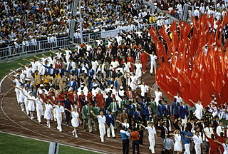 1980 Summer Olympics closing ceremony Olympics ceremony in Moscow, USSR