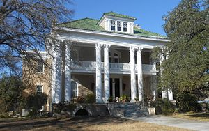 James Riely Gordon - The R.S. Dilworth House at 903 St. Lawrence St., Gonzales, Texas was built in 1911 using St. Louis pressed brick and eight massive, Corinthian columns.