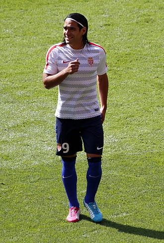Radamel Falcao - Falcao warming-up for AS Monaco in 2014