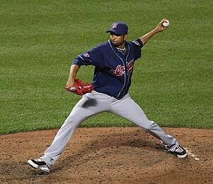 Rafael Pérez (baseball) - Perez with the Cleveland Indians