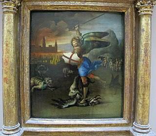 <i>St. Michael Vanquishing Satan</i>