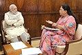 Rajasthan CM Vasundhara Raje meets PM Modi.jpg