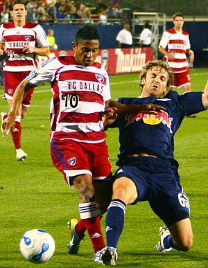 Ramón Núñez - Ramón Núñez (left) playing for FC Dallas