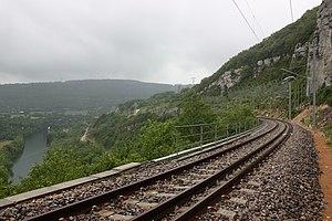 Ligne du Haut-Bugey - The line near Bolozon