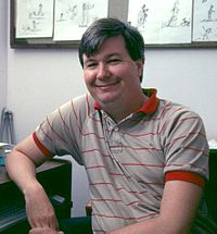Randy Cartwright at the Disney Studio in 1991.