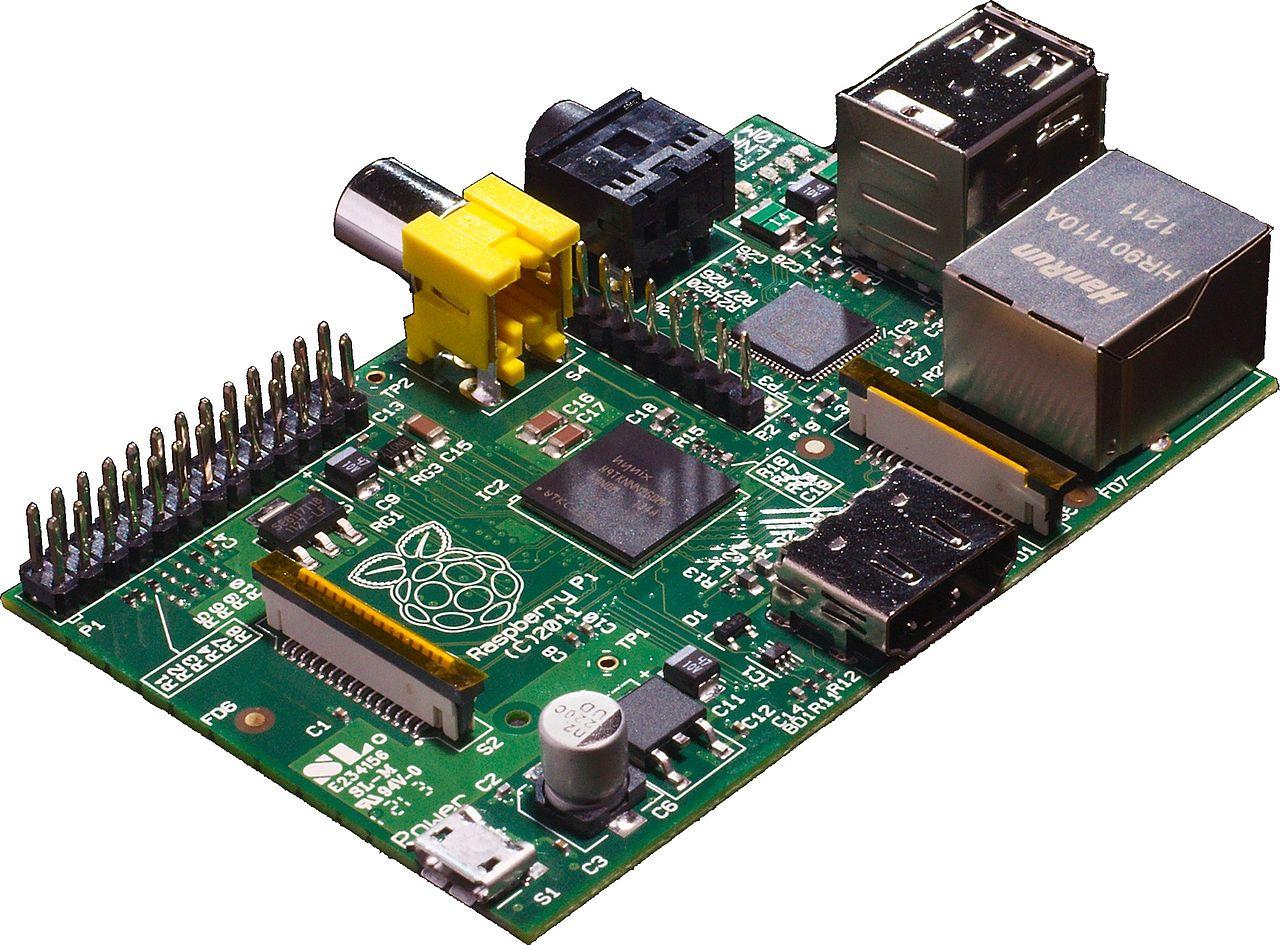 A Raspberry Pi computer