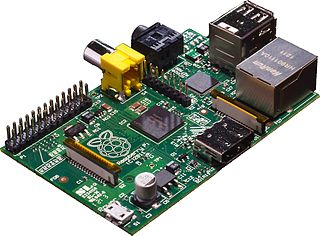 Raspberry Pi (Photo from Wikipedia)