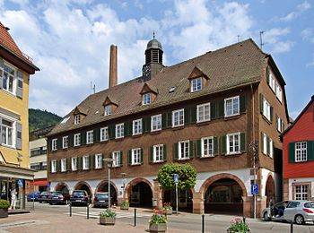 English: Town hall of Alpirsbach, Black Forest...