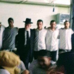 Yeshivat Kerem B'Yavneh - Rav Mordechai Greenberg, Rosh Yeshiva of Kerem B'Yavne, dancing on Purim