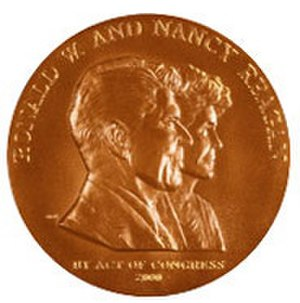 Congressional Gold Medal - Replica of Congressional Gold Medal presented to United States President Ronald and First Lady Nancy Reagan, 2002