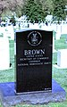 Rear view - Ron Brown headstone - Arlington National Cemetery.JPG