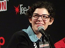 Rebecca Sugar Speaking at New York Comic Con 2014 - Peter Dzubay.jpeg