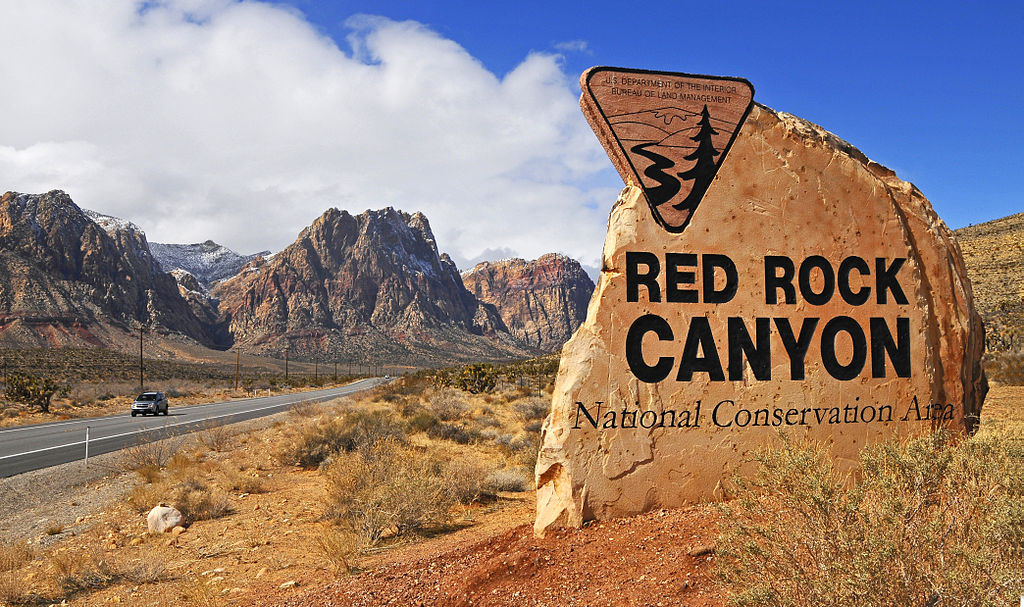 Red Rock Canyon road sign