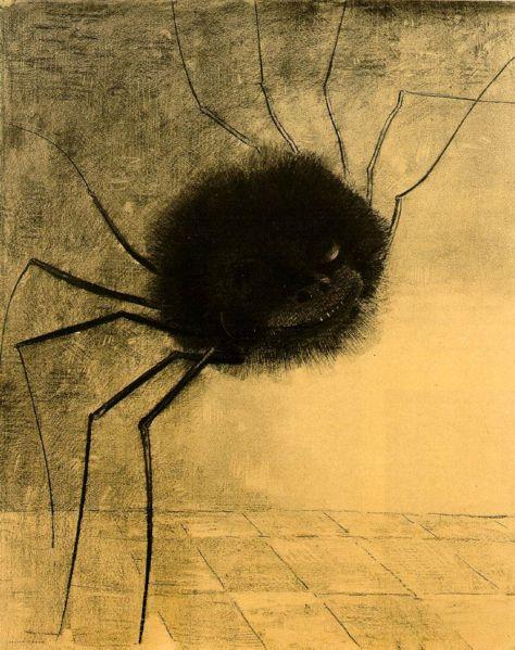 http://upload.wikimedia.org/wikipedia/commons/thumb/d/d2/Redon_smiling-spider.jpg/474px-Redon_smiling-spider.jpg