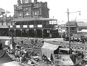 Relaying tram tracks in Newtown 1927